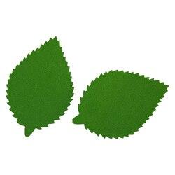 фом8-3-2 Заготовка из фоамирана 'Лист пильчатый', 5х7 см,10шт, тёмно-зелёный
