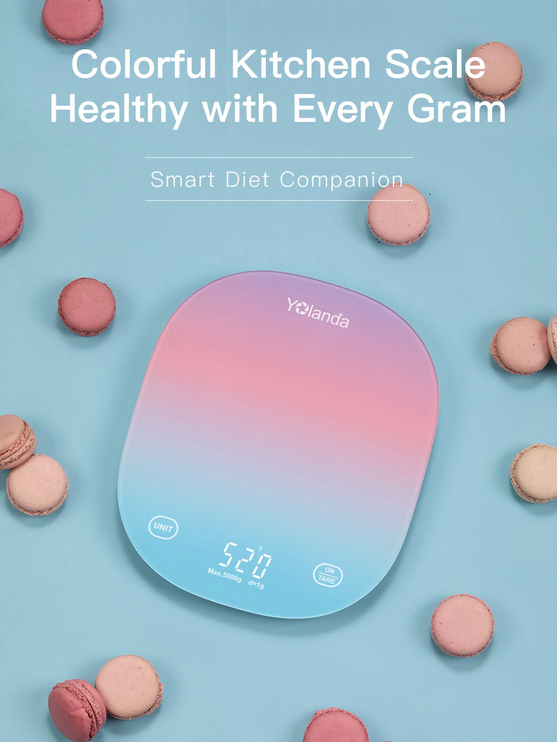 Smart Kitchen Scale Measuring-Tool Weighing Electronic-Weight-Scales Food-Balance Yolanda