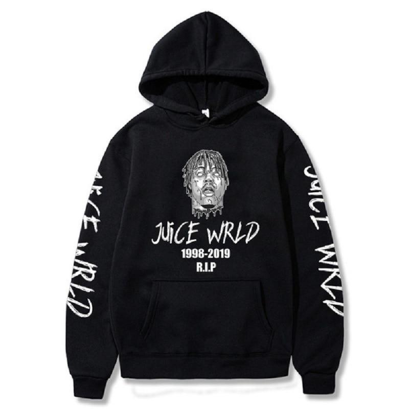 Rapper Juice Wrld R.I.P Printed Hoodies Cozy Hooded Sweatshirts Tops Pullovers
