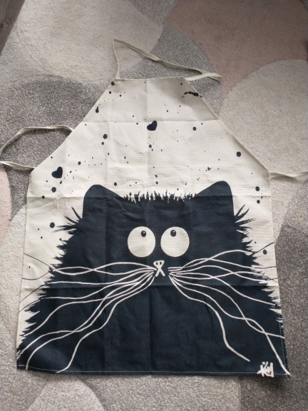 Kitchen Textile Black Cat Apron photo review