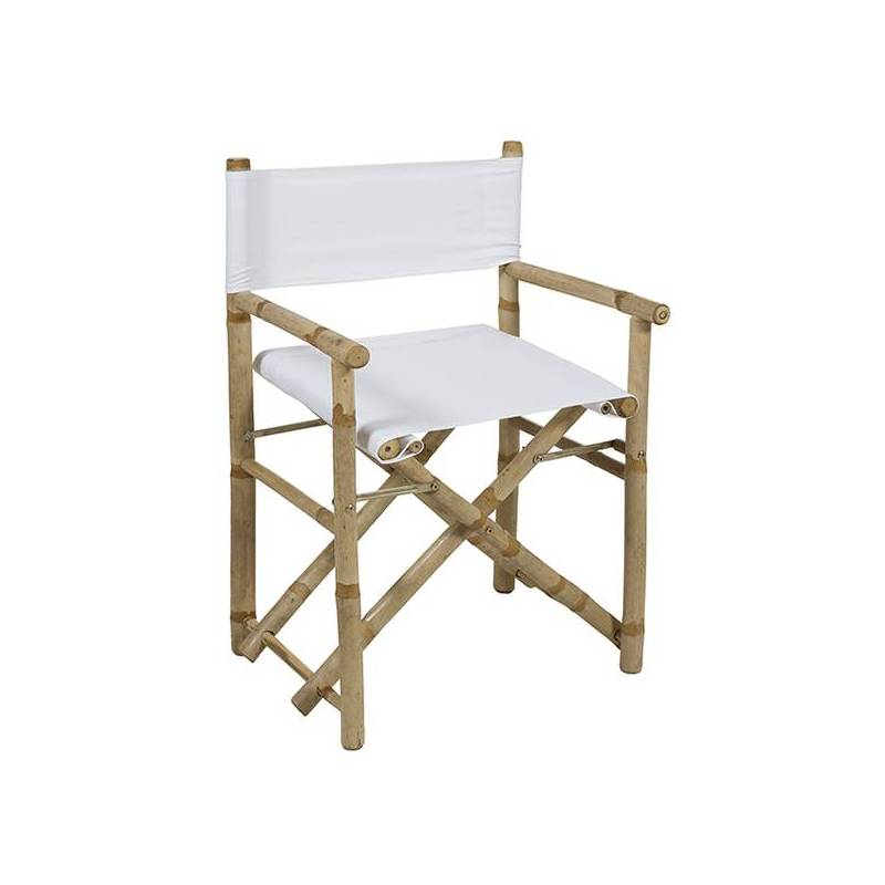 Chair (89x58x45 Cm) White Bamboo