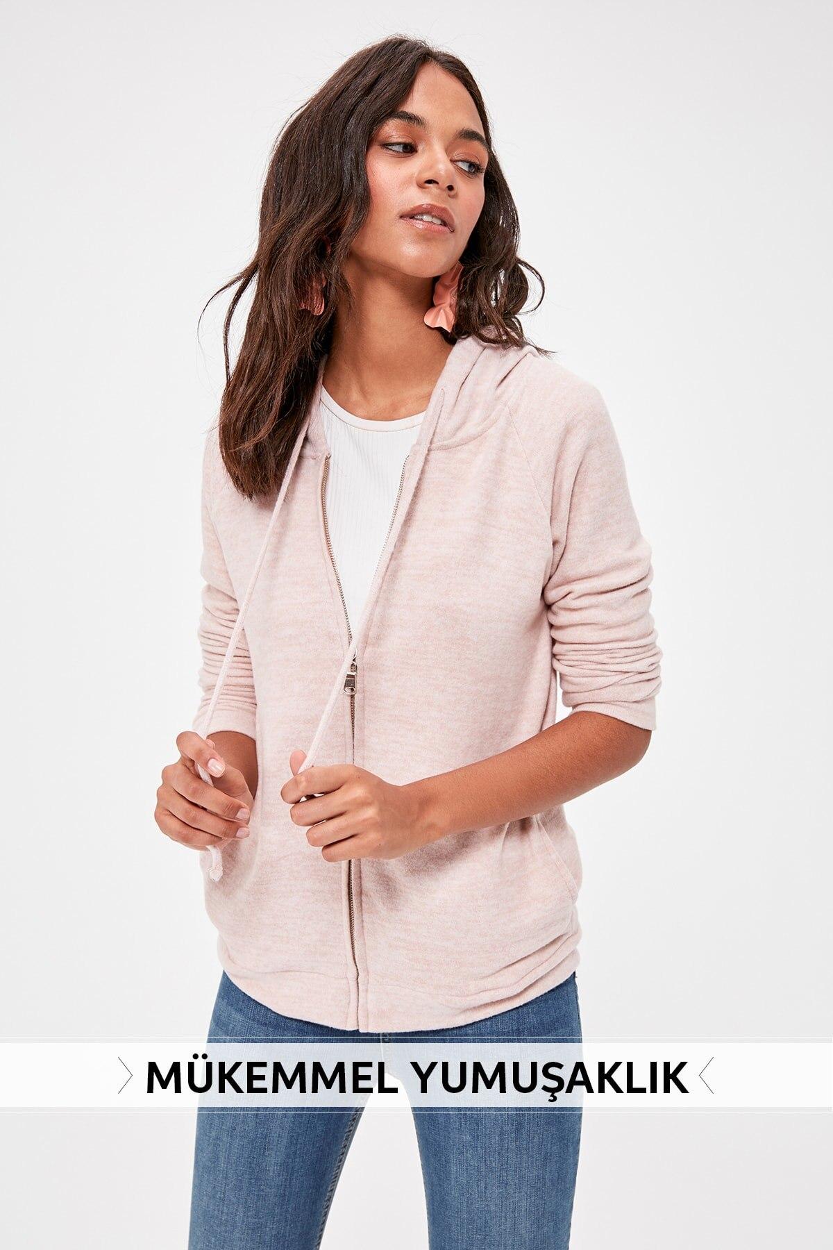 Trendyol Eyelash Basic Knitted Sweatshirt TWOAW20SW0064