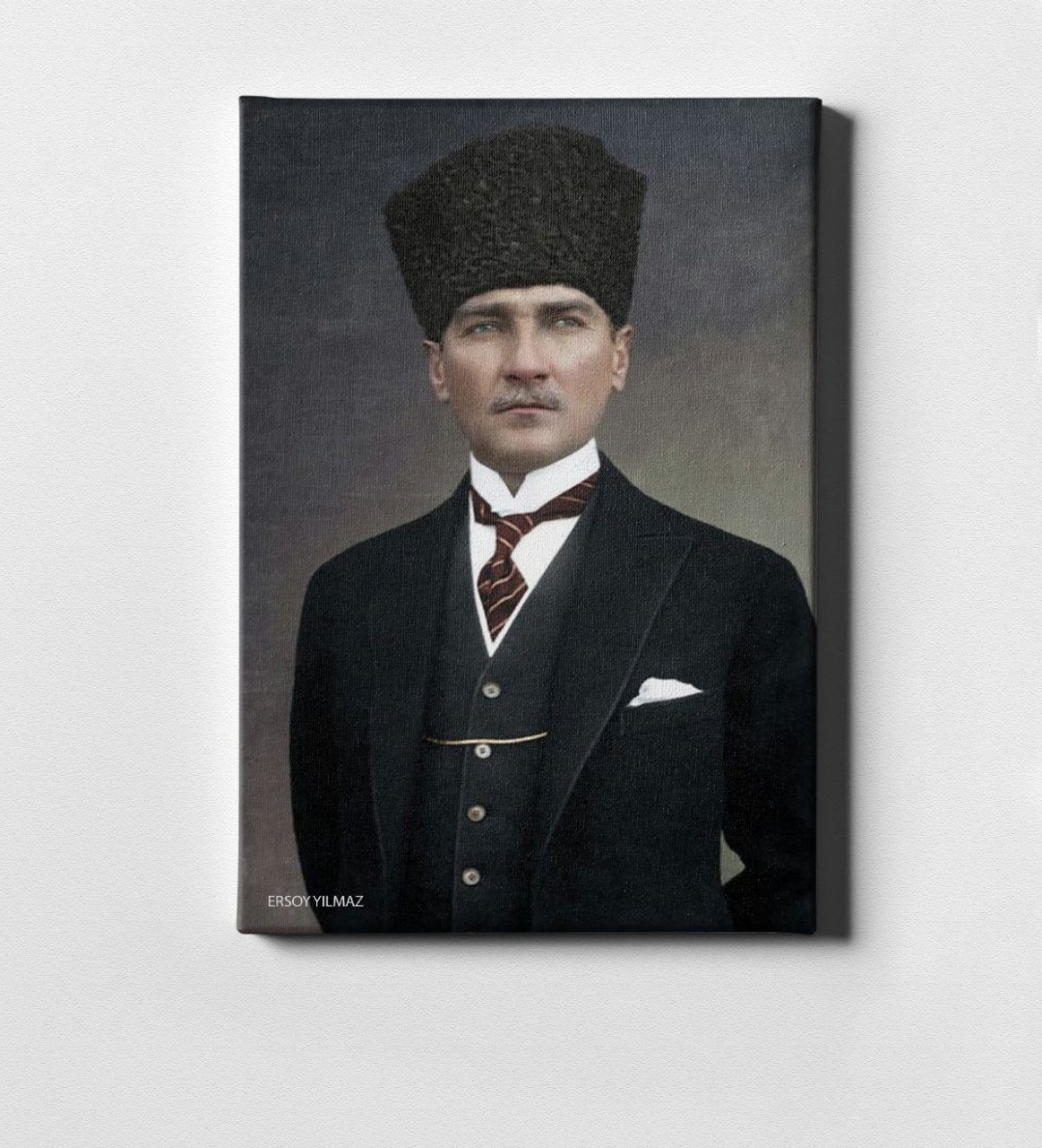 Personalized Ataturk Canvas Print (50x70 Cm.) 21