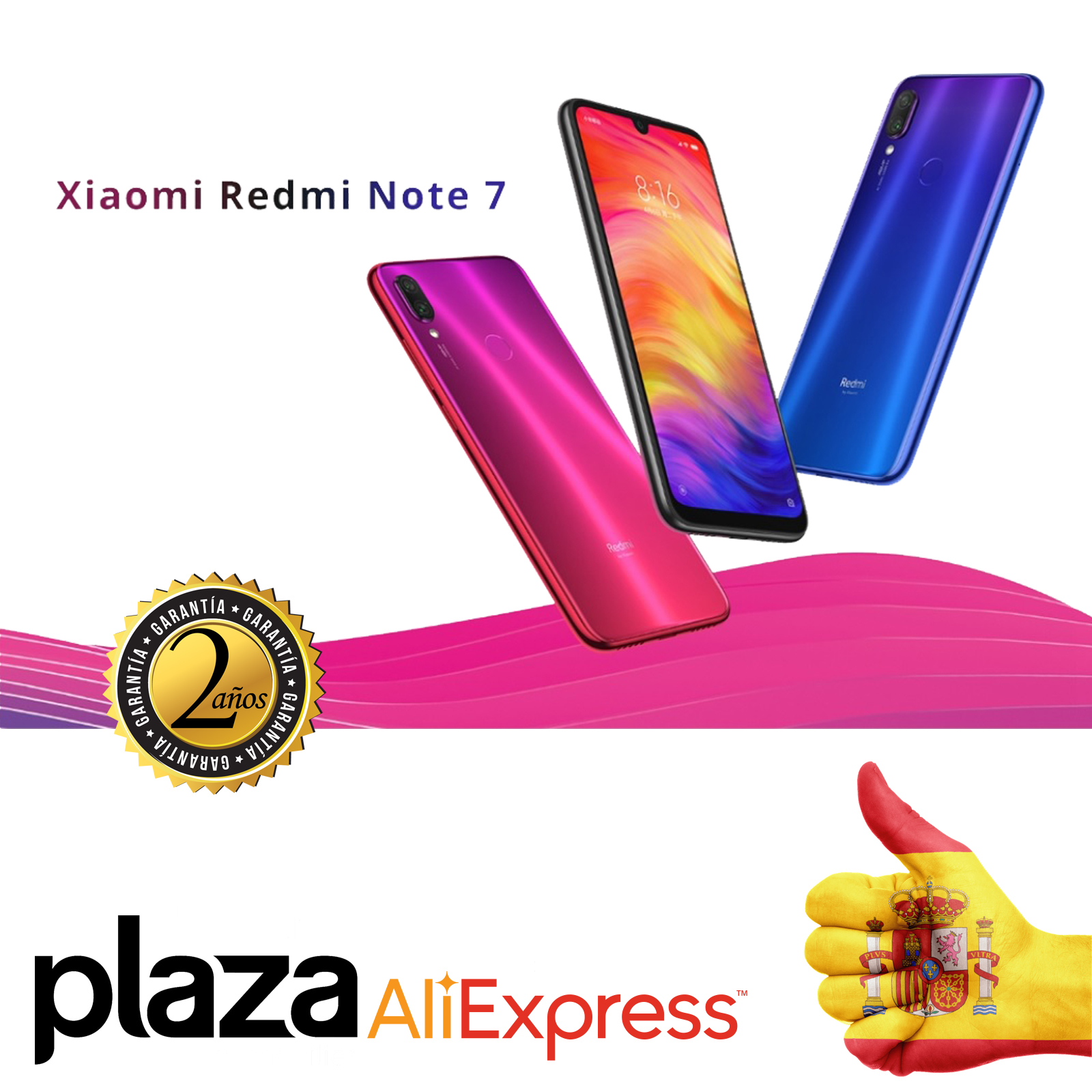 Xiao Mi Note Redmi 7 Smartphone (4 hard GB, 64 hard GB ROM, phone mobile, free, new, cheap, 4000mAh battery, camera 48MP) [Global Version]