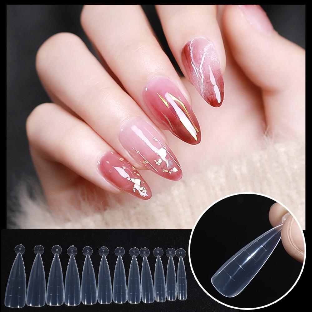BNG 120 шт./компл. двойная форма для ногтей, французская система для накладных ногтей, УФ-полигель, акриловый сделай сам, украшение для ногтей