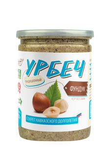 Natural nut paste without sugar from hazelnuts 230 grams, Urbech TM #Spread_nut