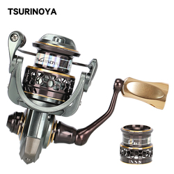 TSURINOYA Jaguar 1000 2000 3000 Double Spool 9+1 Stainless Steel Bearing Fishing Spinning Reel Saltwater