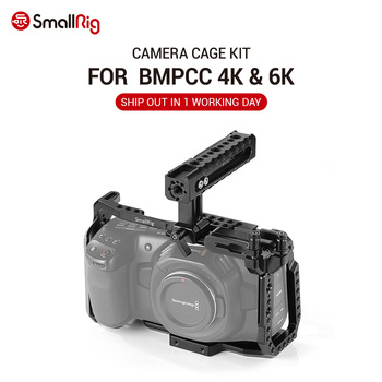 цена на SmallRig BMPCC 4 K Cage Kit for Blackmagic Design Pocket Cinema Camera 4K BMPCC 4K / BMPCC 6K Comes with Nato Handle SSD Mount