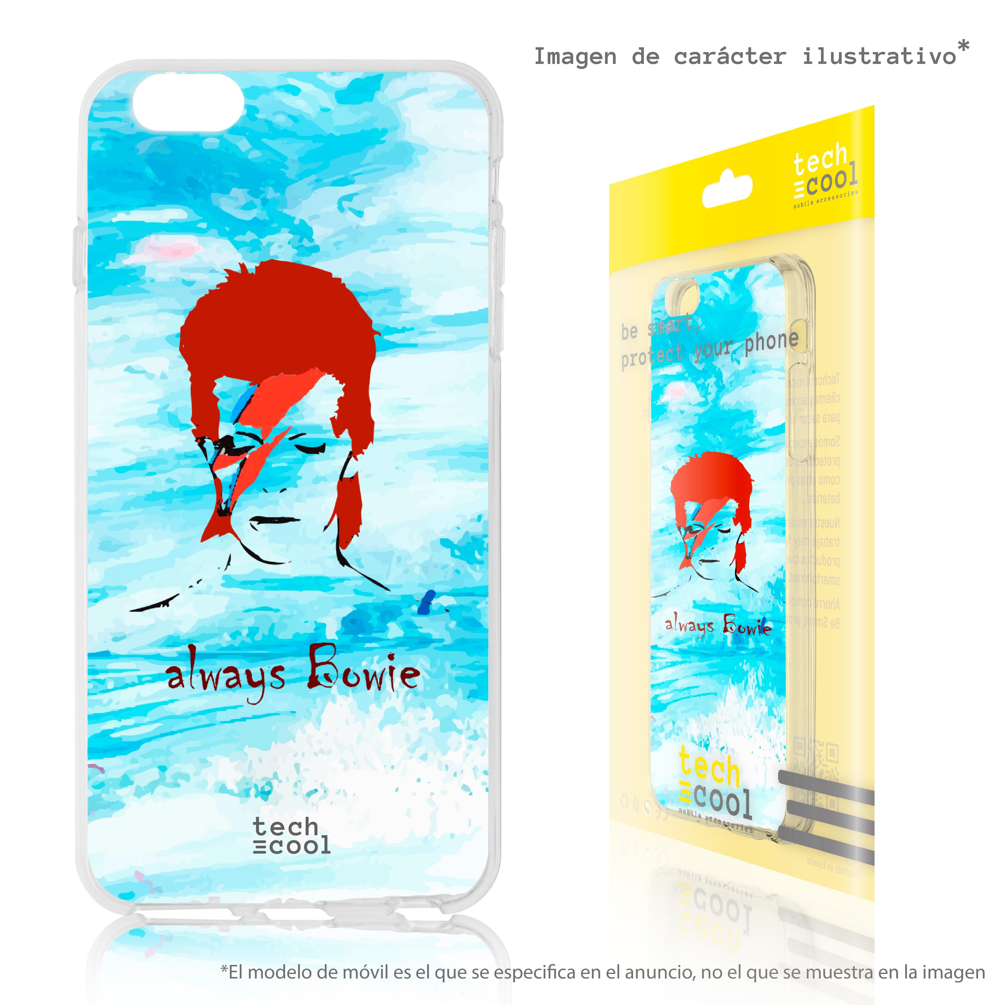 FunnyTech® Funda Silicona para Sony Xperia XA1 Ultra David Bowie Fondo Azul Personajes 2