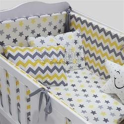 Jaju Baby Gray Zigzag - Star Baby Duvet Cover Set and Crib Edge Protection