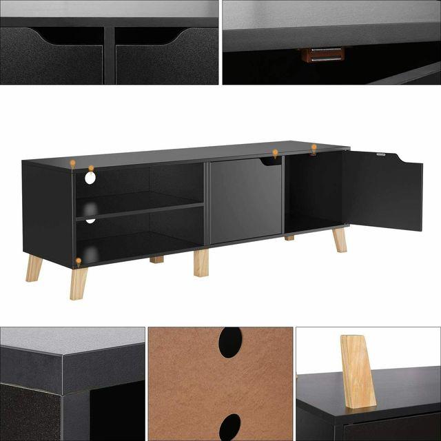 55 inch Modern TV Stand Console Center w/ Storage Cabinet  6