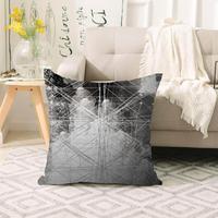 Mais preto branco linhas abstratas nordic escandinavo impressão 3d sofá grande fronha capas de almofada chão escondido zíper 70x70cm