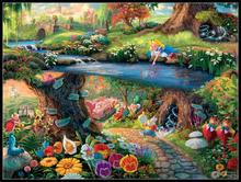 Alice in Wonderland   Counted Cross Stitch Kits   DMC Color DIY Handmade Needlework for Embroidery 14 ct Cross Stitch Sets