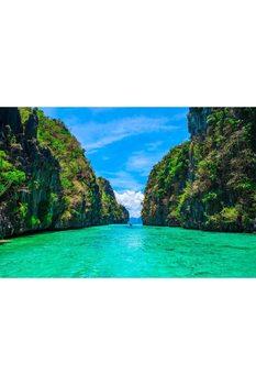 Rock wyspy (filipiny) 3D 3 wymiarowa tapety tanie i dobre opinie TimeArte TR (pochodzenie) Tkaniny Nowoczesne Tekstylne tapety Izolacja cieplna