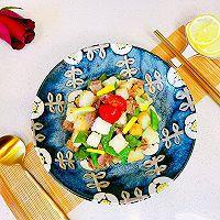 #百变鲜锋料理#蚝油牛粒沙拉的做法图解10