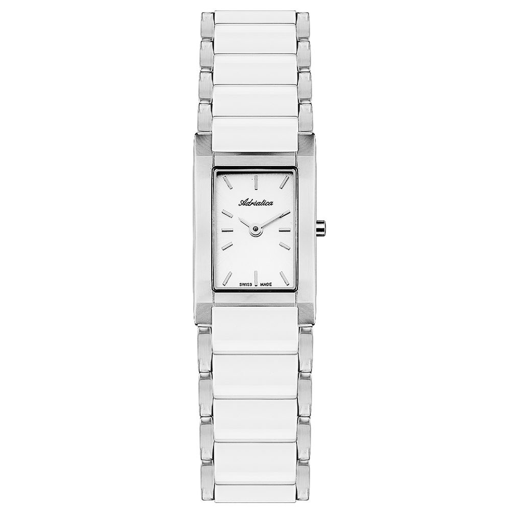 Women's Watches On A Steel Bracelet With Ceramic Inserts With Mineral Glass Sunlight