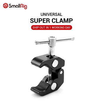 smallrig adjustable friction articulating magic arm with screw ball head and nato clamp ball head for director monitor support SmallRig Multi-function Super Clamp Ball Head Clamp Magic Arm Super Clamp w/1/4 Thread for GPS Phone LCD/DV Monitor Video Light