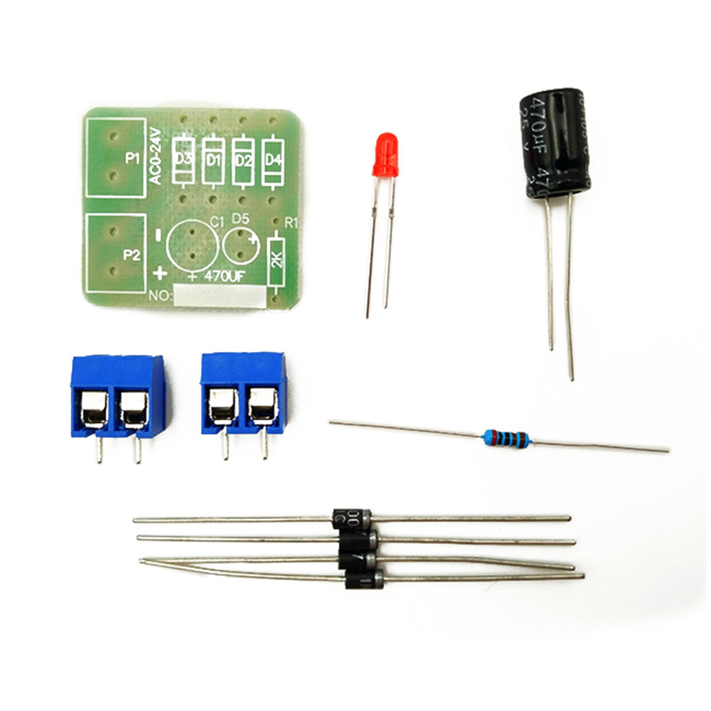 Taidacent 10 Pcs N4007 Bridge Rectifier Parts Full-wave Rectification Circuit Soldering Kit 1 Power Supply Filter Conversion