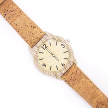 Cork watch for men Natural softwood strap original handmade watch