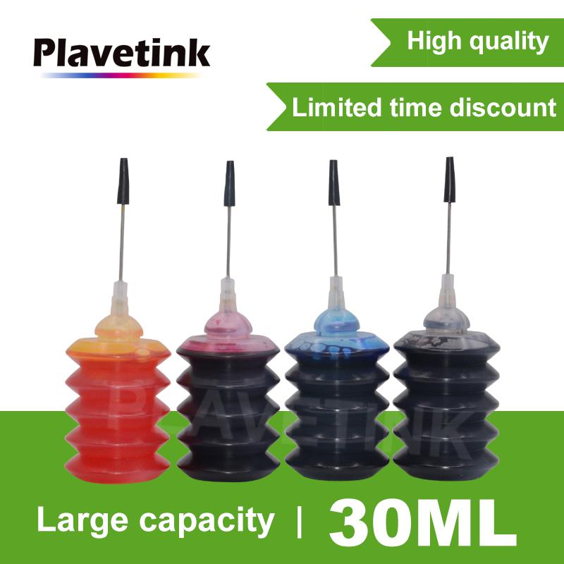 Plavetink 30ml Bottle Printer Ink Refill Kits For HP 123 122 121 302 304 301 300650 652 21 22 140 141 901 350 351 XL Cartridge