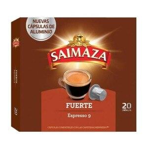 Strong 20 Nespresso compatible SAIMAZA aluminium capsules
