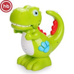 Игрушка-динозаврик Glückliches Baby REXY, музыкальная, с функцией записи голоса, зеленая