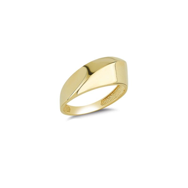 14K Solid Gold Art Design Fashion Ladies Ring