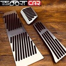 цена на Car Accessories No Drilling Aluminum Alloy Pedal Brake Pedal Plate for BMW New X5 X6 Z4 F10 F15 F30 F31 F34 E46 E90 E60 G30 meta