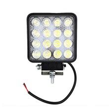 48w żarówka 4x4 Led światła robocze powodzi daleko światła Led lampa robocza ATV SUV lampy Led światła do pracy Offroad jazdy samochodem dzień światła