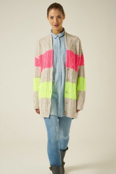 цена на Joinus Cable Knit Cardigan With Button Detail Woman Multi