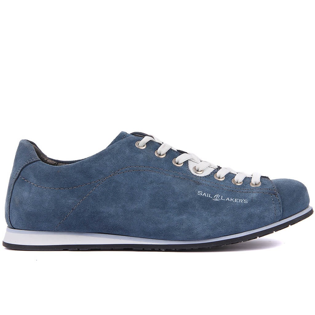 Sail Lakers-Denim Blue Suede Men Casual Shoes