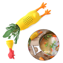Infuser Tea-Seasoning-Container Spice-Box Herbs Cooking-Tools Reusing Cute Chicken