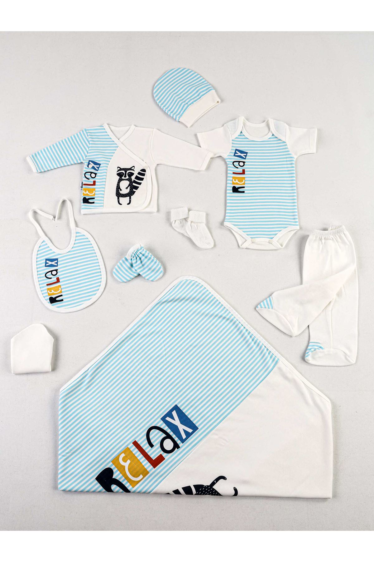Turquoise White Relax 10 Lu Newborn Male Baby Hospital Output