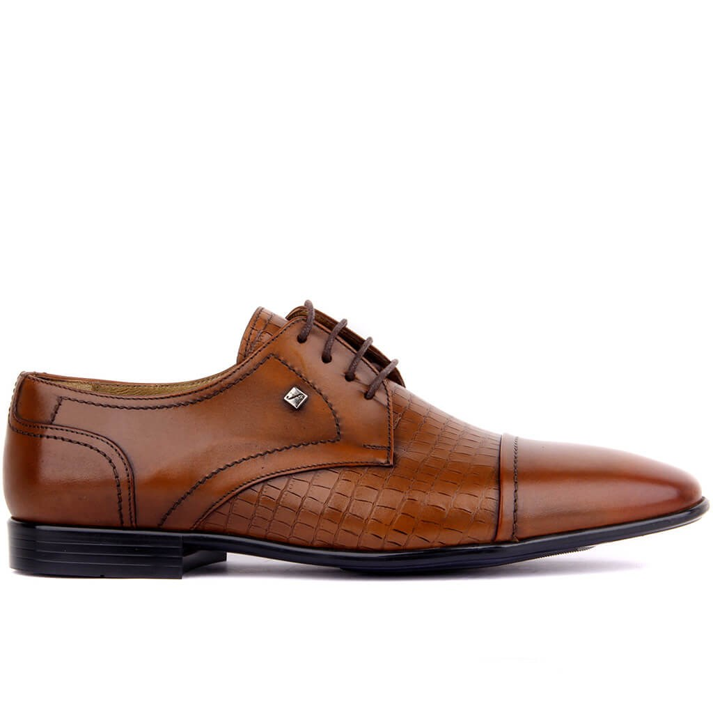Fosco-Tan Leather Men 'S Classic Shoes