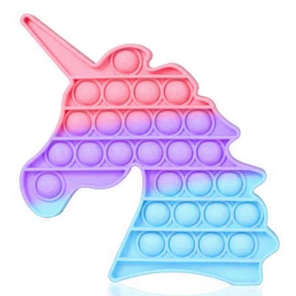 Push Bubble меняющая цвет на солнце Единорог Игрушка Антистресс Pop it Unicorn Вечная Пупырка Поп ит PushBubble4