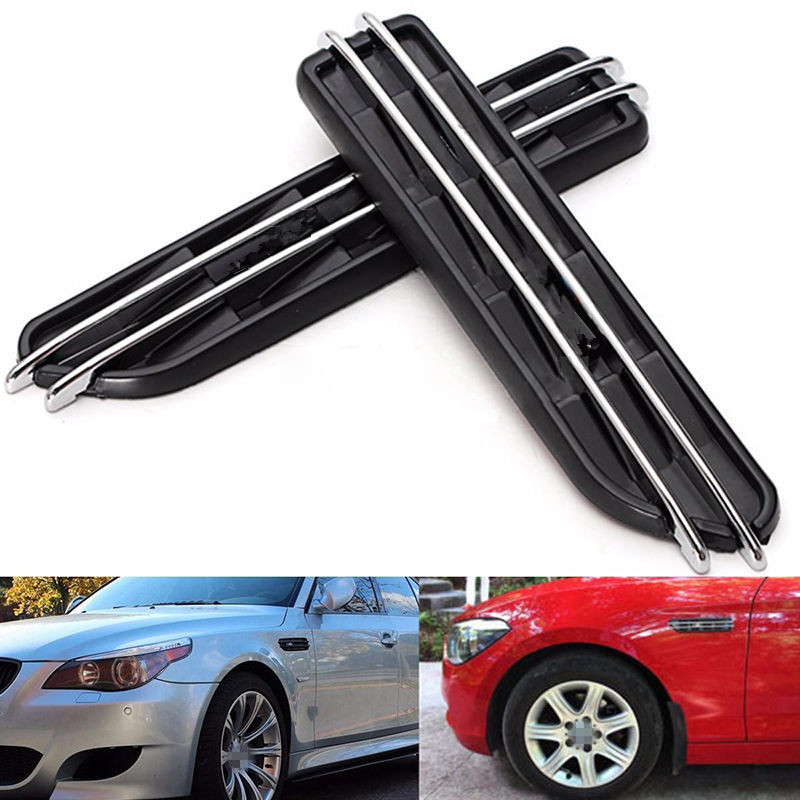 2pcs Air Flow Fenders For BMW E60 M5 E61 E39 E90 M3 E46 Side Fender Air Flow Vents Grille Grill(China)