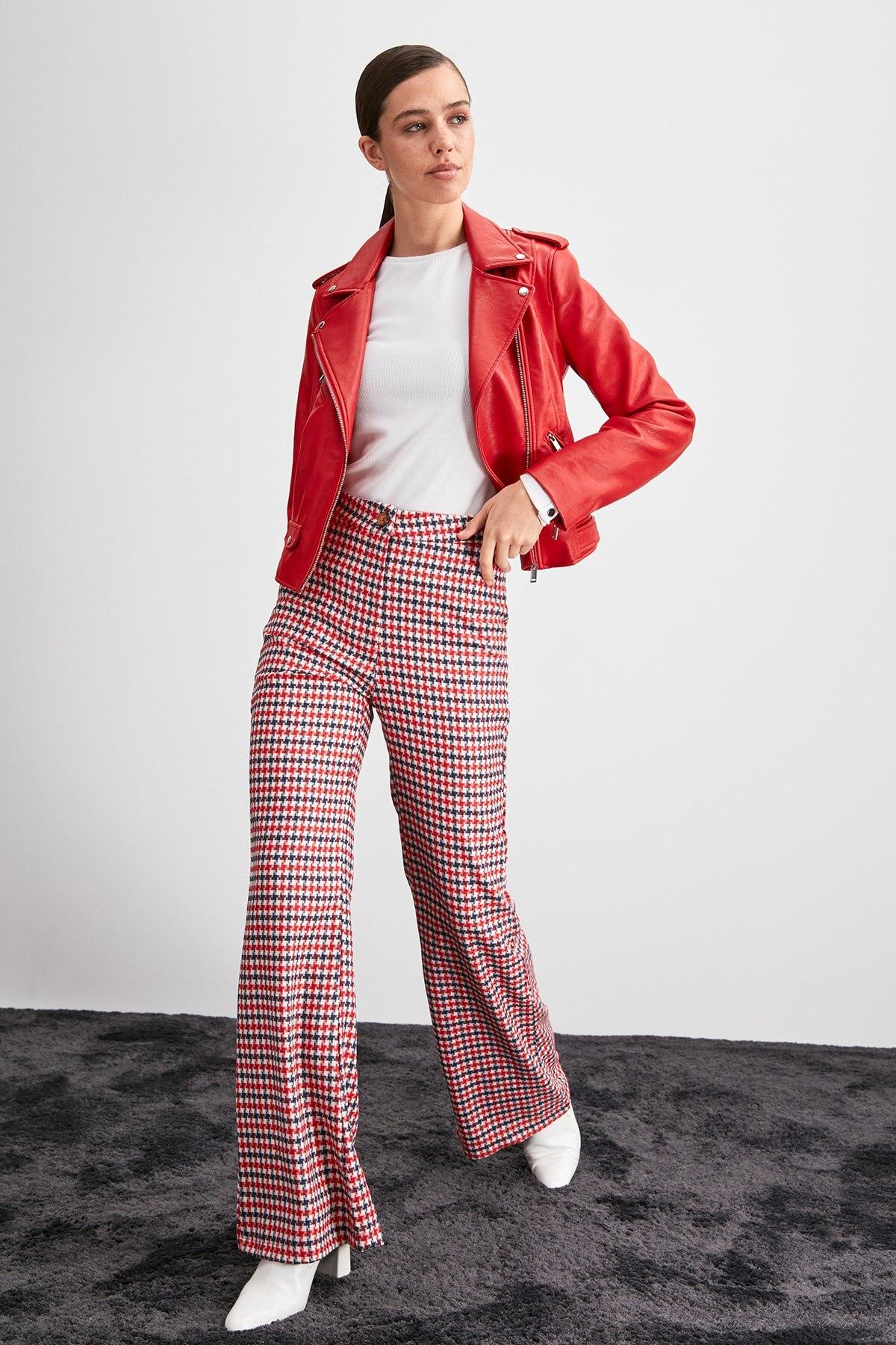 Trendyol Plaids Pants TWOAW20PL0127