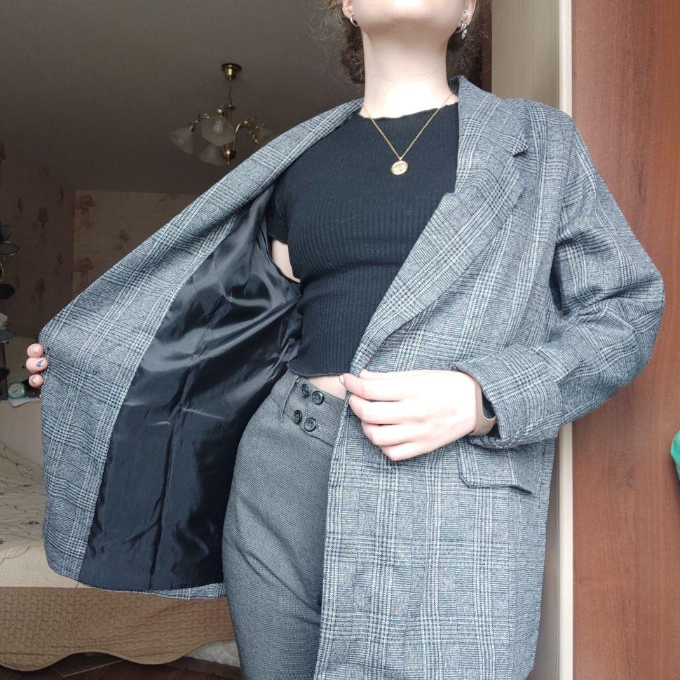 CBAFU autumn spring jacket women suit coats plaid outwear casual turn down collar office wear work runway jackets blazer N785 reviews №3 88700