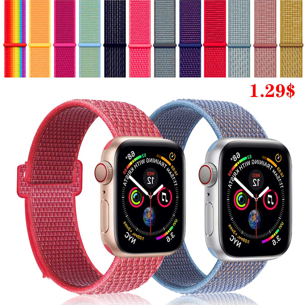 EIMO Strap For Apple Watch band Apple Watch 4 44mm 40mm 3 iwatch band 42mm 38mm Sport Loop correa Nylon loop bracelet Watchband