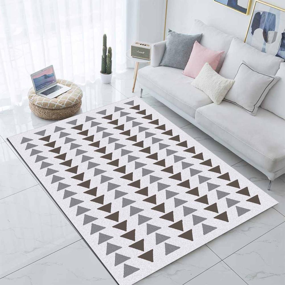 Else Gray White Arrown Boho Geometric Nordec  3d Print Non Slip Microfiber Living Room Decorative Modern Washable Area Rug Mat