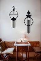 Metal Wall Decor and Art, Macrome, Metal Design on Wall, metal Art Decor Home Office Decoration Living Room Decor