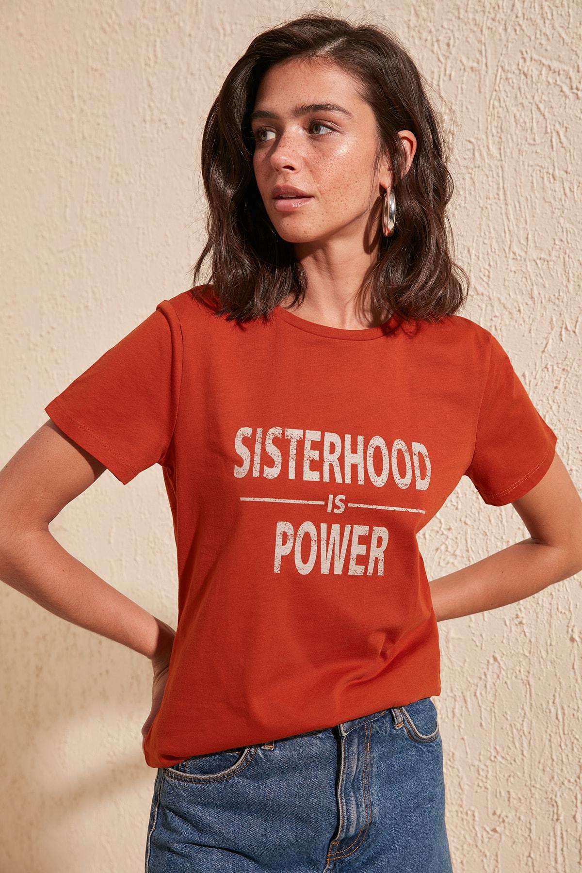 Trendyol Printed Basic Knitted T-Shirt TWOSS20TS0426
