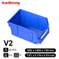 LEADLOONG-V2 40PCS| Hardware Storage Workbench Hanging Board Parts Bins Electronic Component PP Plastic Storage Box