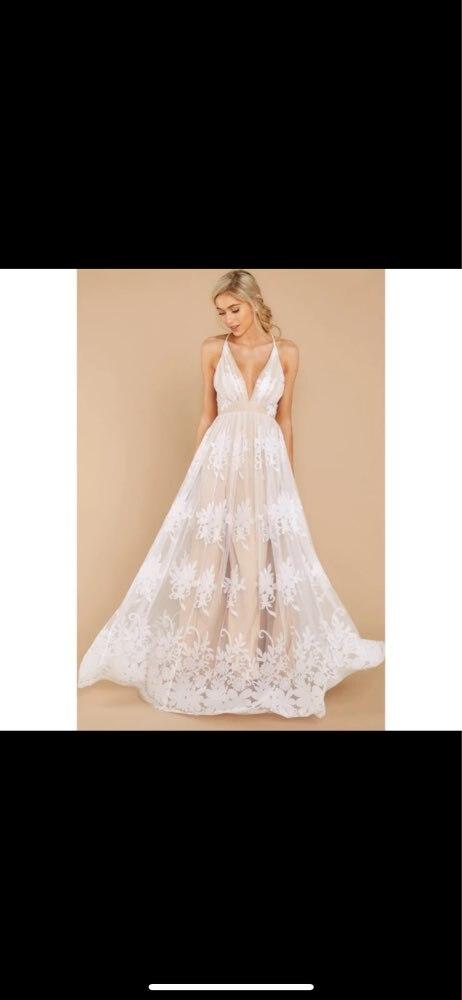 Liva girl 2019 dress Womens Evening Party summer solid elegant dress Formal Chiffon Sleeveless Prom Long  dress reviews №4 151667