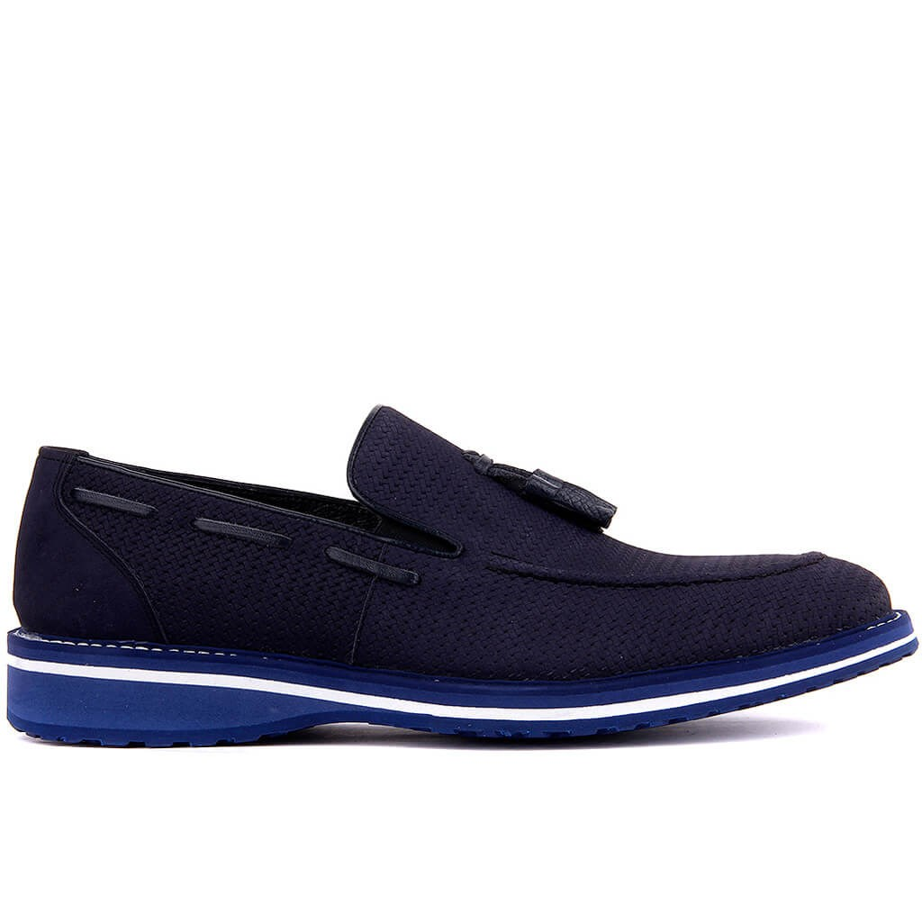 Fosco-Navy Blue Nubuck Men Casual Shoes