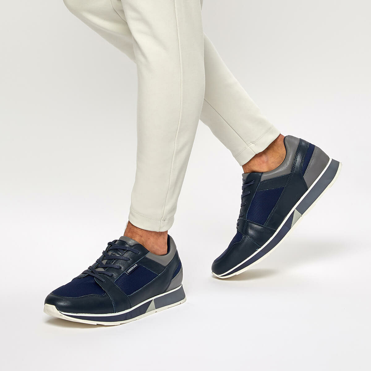 FLO TULSA Navy Blue Men 'S Sneaker Shoes LUMBERJACK