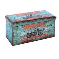 Multi uso caixa 116169 retro dobrável azul (70x36x36 cm)|Bolsas de armazenamento dobráveis| |  -