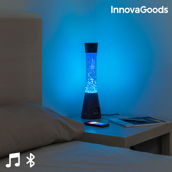 InnovaGoods Flow Lamp Glitter Lamp With Speaker 30W