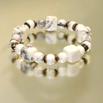 Bracelet with cacholonge White hand made fashion jewelry for Women 2020 jewelry set stud earrings 925 silver natural stone