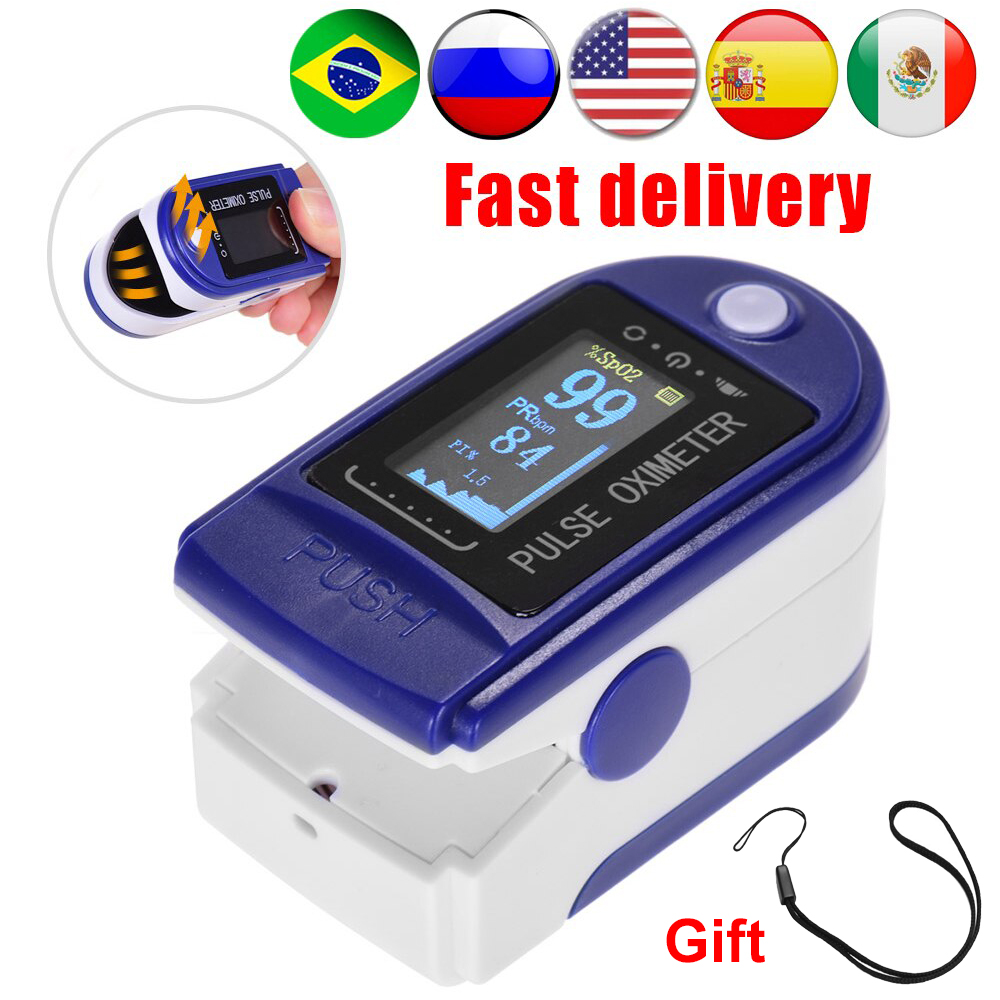 Ship in 24hours Oximeter Finger Clip Oximeter Finger Pulse Monitor Oxygen Saturation Monitor Heart Rate Meter Without Battery